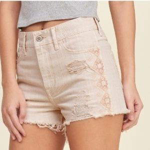 Hollister Distressed Short Pink High Rise Shorts